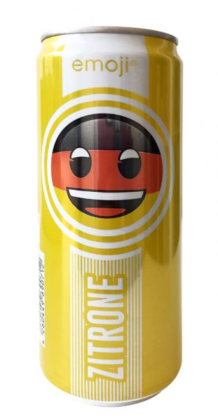 Emoji Drink - Keep Smiling, Zitrone, 0,33l - Dose