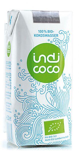 indi coco - Organic Kokosnusswasser 0,33l Tetra-Pak
