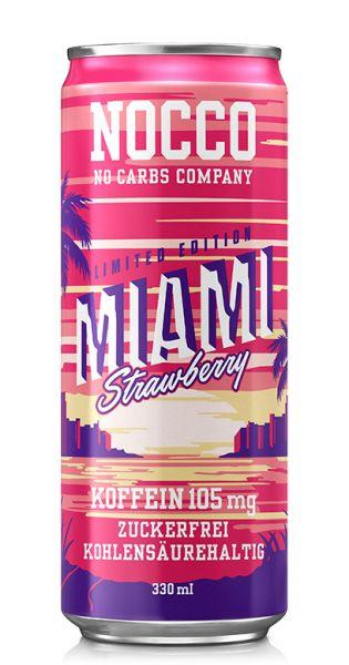 NOCCO BCAA - Miami Strawberry - 0,33l (Einzeldose)