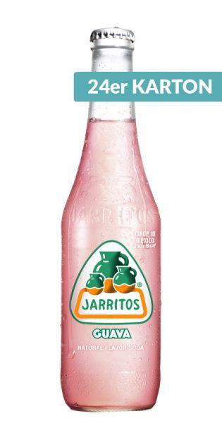 Jarritos mexikanische Limo - natürlicher Geschmack, Guava 0,37l - Glas (24er Karton)