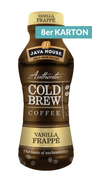 Java House - Cold Brew Coffee, Vanilla Frappe 0,3l PET (8er Karton)