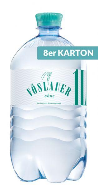 Voeslauer Mineralwasser - still 1l PET (2 x 4er Tray)