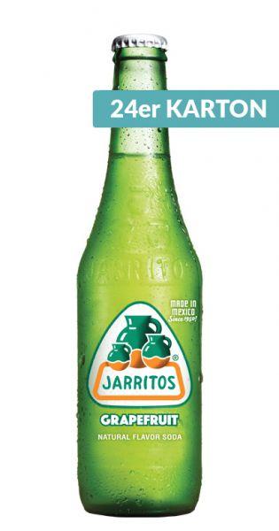 Jarritos mexikanische Limo - natürlicher Geschmack, Grapefruit 0,37l - Glas (24er Karton)