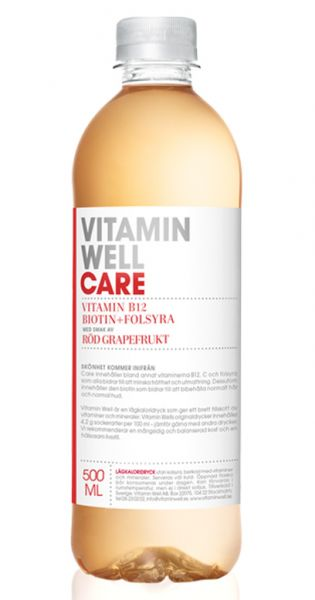 Vitamin Well - Care, Grapefruit - 0,5l (Einzel PET)