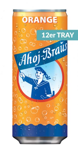 Ahoj Brause Dose - Orange 0,33l Dose (12er Tray)
