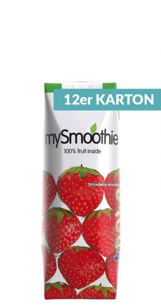 mySmoothie - ohne Kühlung haltbar, Erdbeere 0,25l Tetra-Pak (12er Karton)
