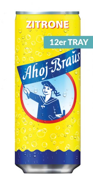 Ahoj Brause Dose - Zitrone 0,33l Dose (12er Tray)