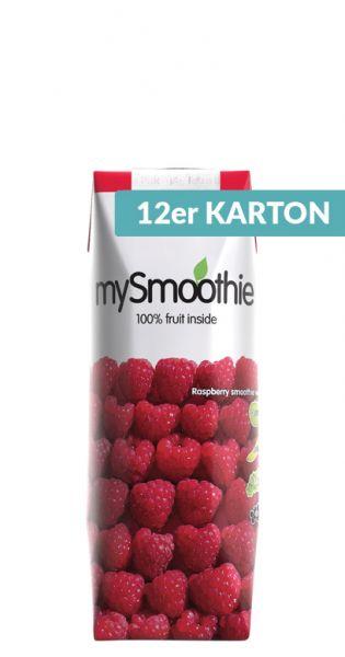 mySmoothie - ohne Kühlung haltbar, Himbeere 0,25l Tetra-Pak (12er Karton)