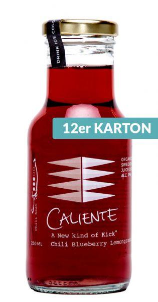 Caliente - Heidelbeere, Zitronengras, Chili 0,25l Glas (12er Karton)