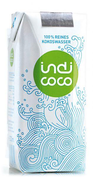 indi coco - reines Kokosnusswasser 0,33l Tetra-Pak