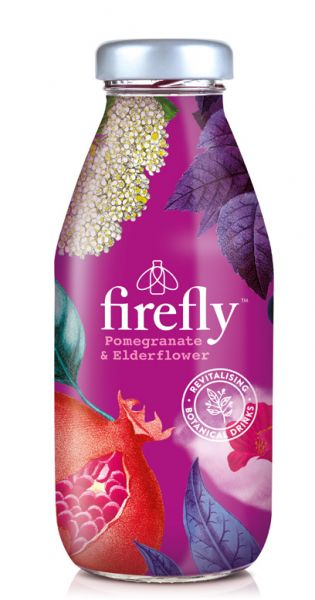 firefly natural drinks - purple: Granatapfel, Lime & Elderflower 0,33l Glas