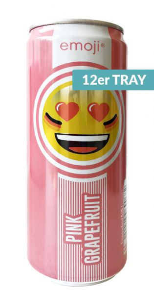 Emoji Drink - Keep Smiling, Pink Grapefruit, 0,33l - Dose (12er Tray)
