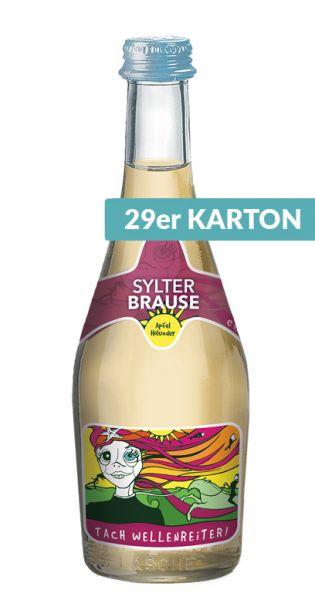 Sylter Brause - Tach Wellenreiter, Apfel und Holunder, 0,33l - Glas (29er Karton)
