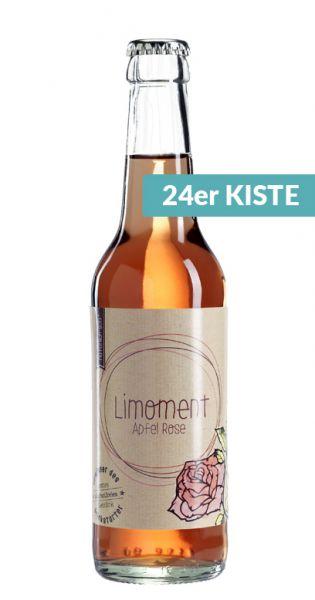 Limoment - Apfel und Rose 0,33l Glas (24er Karton)