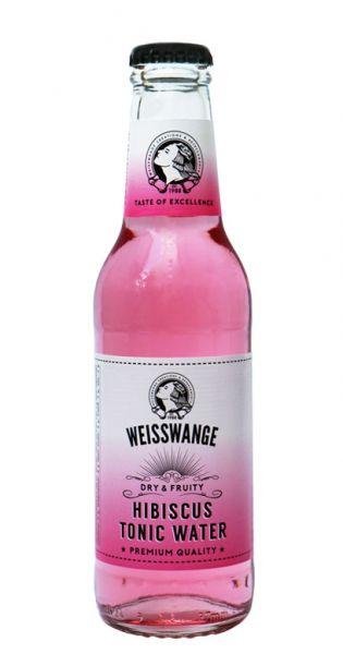Weisswange - Hibiskus Tonic Wasser, Trocken und Fruchtig 0,2l Glas-Flasche