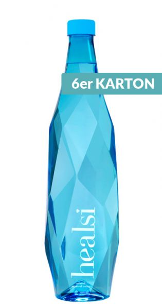 healsi Water - Diamant Flasche, blue 1l PET (6er Karton)