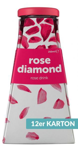 Rose Diamond Water - Rosenwasser 0,25l Glas (12er Karton)
