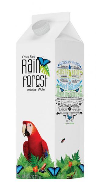 Rain Forest Water - Artesisches Wasser aus Costa Rica - still 1l Tetra-Pak