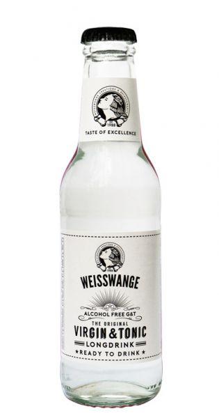 Weisswange - Jungfräuliches Tonic Wasser, Longdrink, Alkoholfrei Gin und Tonic 0,2l Glas-Flasche
