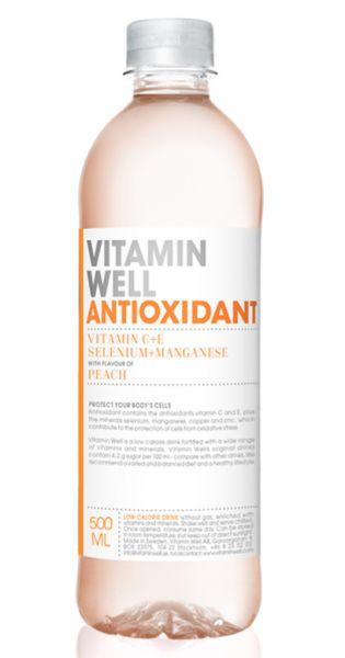 Vitamin Well - Antioxidant, Pfirsich - 0,5l (Einzel PET)