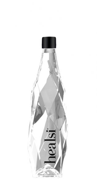 healsi Water - Diamant Flasche, crystal, still 0,4l Glas
