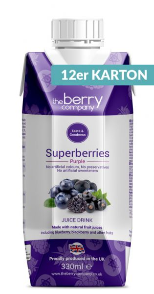 The Berry Company - Purple, Superberries 0,33l Tetra-Pak (12er Karton)