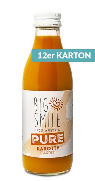 Big Smile - 100% Organic, pure Karotte 0,2l Glas (12er Karton)