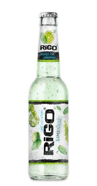 Rigo - Limenade, Limette, Minze und Soda - 0,33l (Einzelglas)