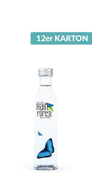 Rain Forest Water - Artesisches Wasser aus Costa Rica, still - 0,25l (12er Karton)