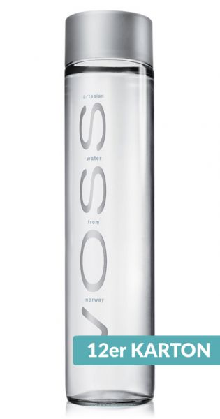 Voss Wasser - Premium Wasser - still 0,8l Glas (12er Karton)