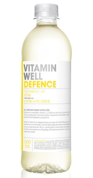 Vitamin Well - Defence, Zitronen und Holunderbülten 0,5l PET