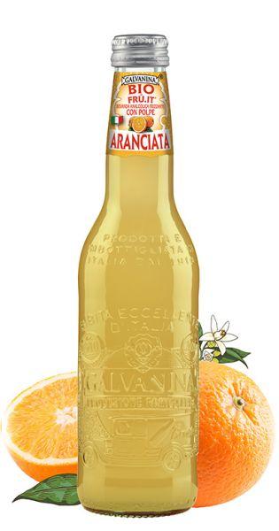 Galvanina - Bio lemonade, Fru it Orange - 0,335l (Einzel Flasche)