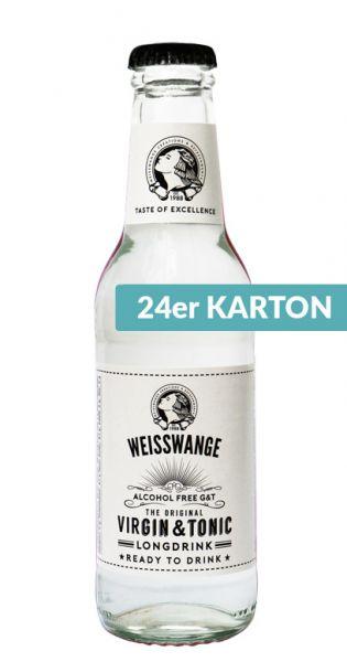 Weisswange - Jungfräuliches Tonic Wasser, Longdrink, Alkoholfrei Gin und Tonic 0,2l (24er Karton)