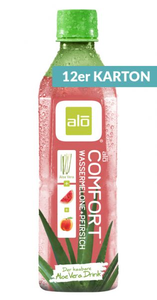 ALO Drink - COMFORT, Aloe Vera, Wassermelone und Pfirsich - 0,5l (12er Karton)