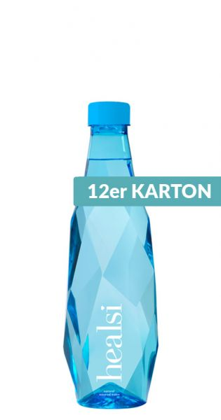 healsi Water - Diamant Flasche, blue 0,5l PET (12er Karton)