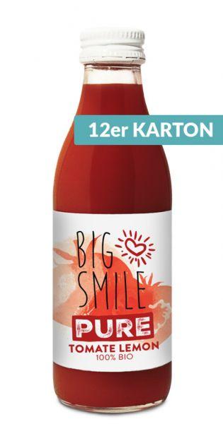 Big Smile - 100% Organic, Tomate Zitrone 0,2l Glas (12er Karton)