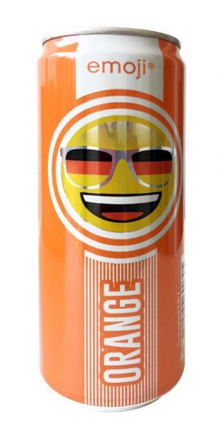 Emoji Drink - Keep Smiling, Orange, 0,33l - Dose