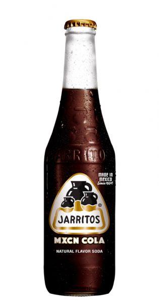 Jarritos mexikanische Limo - natürlicher Geschmack, Mexikanische Cola 0,37l - Glas