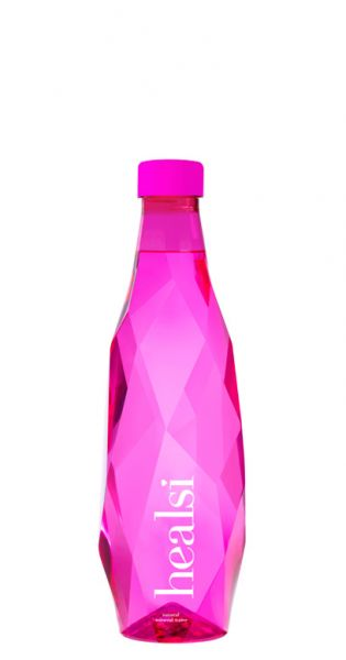 healsi Water - Diamant Flasche, pink 0,5l PET