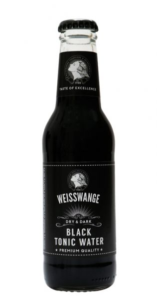 Weisswange - Schwarzes Tonic Wasser, Trocken und Schwarz 0,2l Glas-Flasche