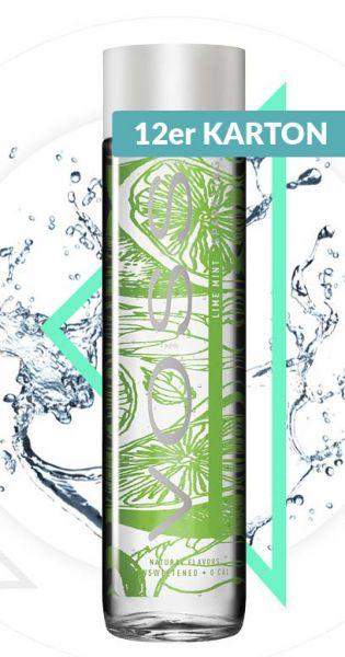 Voss Wasser - Limette und Minze, sprudelig - 0,375l (12er Karton)