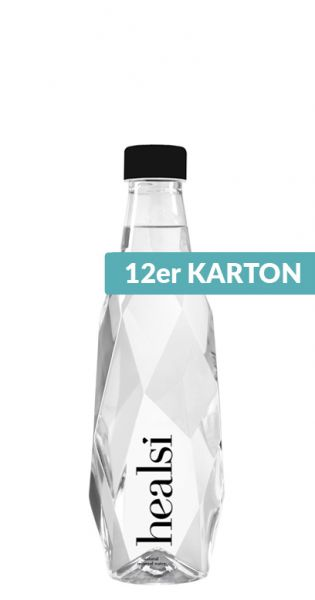 healsi Water - Diamant Flasche, crystal 0,5l PET (12er Karton)