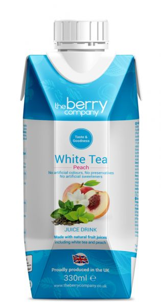 The Berry Company - Weißer Tee, Pfirsich 0,33l Tetra-Pak