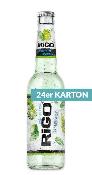 Rigo - Limenade, Limette, Minze und Soda - 0,33l (24er Karton)