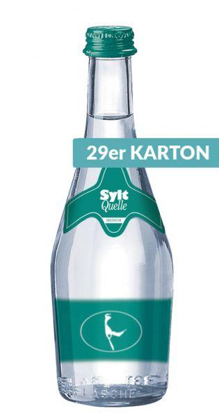 Sylt Quelle - Das Premium Wasser von der Insel, Medium 0,33l - Glas (29er Karton)