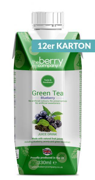The Berry Company - Grüner Tee, Blaubeere 0,33l Tetra-Pak (12er Karton)