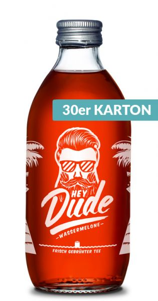 Hey Dude - Eistee Wassermelone 0,33l Glas (30er Kiste)