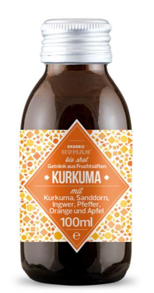 Organic Human - gesunder Bio Energy Shot, Kurkuma (DE-ÖKO-003) - 0,1l (Einzelglas)