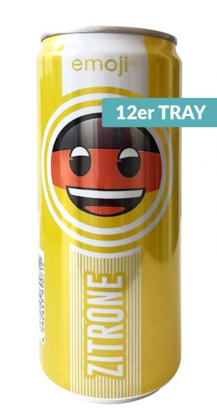 Emoji Drink - Keep Smiling, Zitrone, 0,33l - Dose (12er Tray)