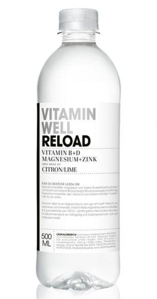 Vitamin Well - Reload, Zitrone und Limette - 0,5l (Einzel PET)